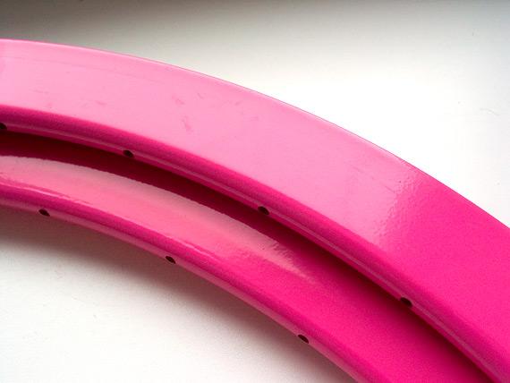 Высокие (40мм) цветные fixed gear обода. Розовые.