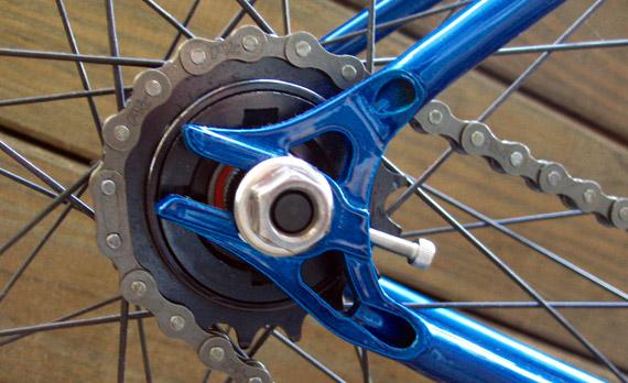 Стальная рама для fixed gear, трекового велосипеда. Горизонтальный дропаут.