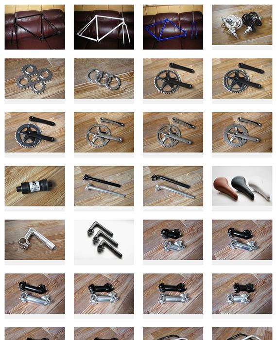 Детали для fixed gear велосипедов, которые можно купить в нашем магазине