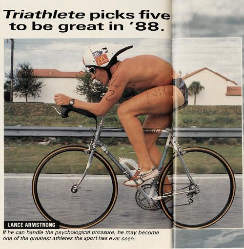 Лэнс Армстронг в 1988 году.