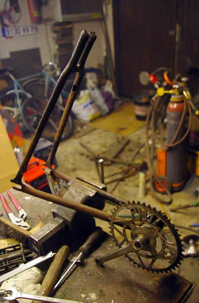 Производство рамы для fixed gear велосипеда