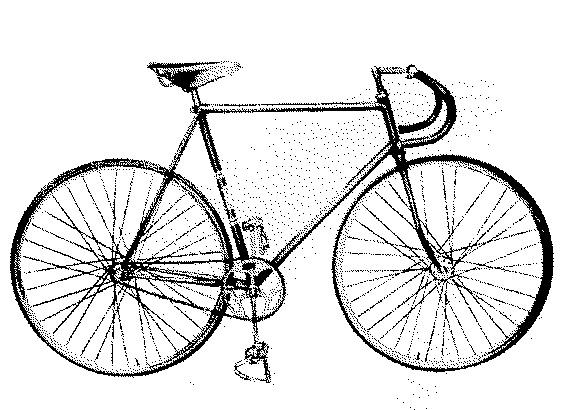 Стальная трековая рама ХВЗ «Рекорд» для fixed gear велосипеда