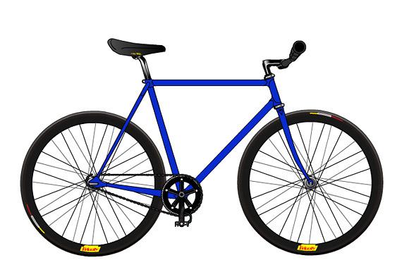Черный fixed gear велосипед. Проект. Купить.
