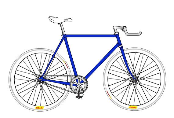Белый fixed gear велосипед. Проект. Купить.