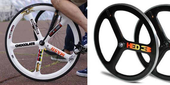 Карбоновые, пластиковые колеса для fixed gear велосипеда.